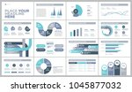 presentation template design.... | Shutterstock .eps vector #1045877032