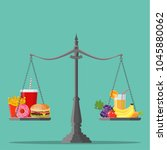 concept of weight loss  healthy ... | Shutterstock . vector #1045880062