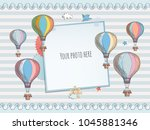 holiday card design with... | Shutterstock .eps vector #1045881346