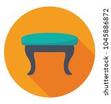 a low height stool used in... | Shutterstock .eps vector #1045886872