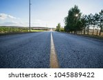 canada highway view | Shutterstock . vector #1045889422