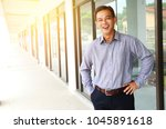 portrait of a cheerful middle... | Shutterstock . vector #1045891618