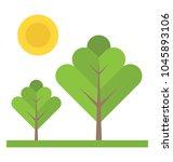 a green foliage of seasonal... | Shutterstock .eps vector #1045893106