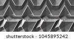 3d black panels with white... | Shutterstock . vector #1045895242