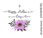 hand drawn card with lettering... | Shutterstock .eps vector #1045898782
