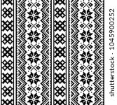lapland seamless vector pattern ... | Shutterstock .eps vector #1045900252