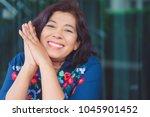 portrait of senior woman.senior ... | Shutterstock . vector #1045901452