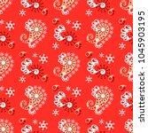 paisley seamless pattern vector ... | Shutterstock .eps vector #1045903195