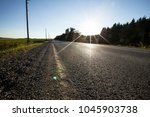 canada highway view | Shutterstock . vector #1045903738