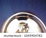 telescope observing the sky...   Shutterstock . vector #1045904782