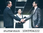 the image of a business team... | Shutterstock . vector #1045906222