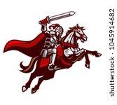 knight riding horse | Shutterstock .eps vector #1045914682