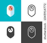new born baby icons | Shutterstock .eps vector #1045914772