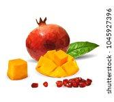 fresh garnet  nutritious and... | Shutterstock .eps vector #1045927396