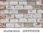 white brick wall close shot | Shutterstock . vector #1045933528