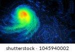 weather and storm   3d rendering | Shutterstock . vector #1045940002