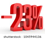 minus twenty three percent.... | Shutterstock . vector #1045944136