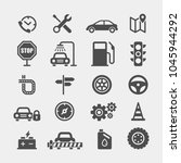 automobile flat vector icons... | Shutterstock .eps vector #1045944292
