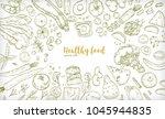 horizontal banner with frame... | Shutterstock .eps vector #1045944835