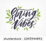 spring vibes  gorgeous... | Shutterstock .eps vector #1045944892
