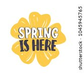 spring is here phrase... | Shutterstock .eps vector #1045945765