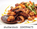 Sea Food And Vegetables Grilled