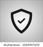 shield sign icon | Shutterstock .eps vector #1045947655