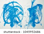 abstract ink drawing on paper | Shutterstock . vector #1045952686