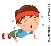vector illustration of kid... | Shutterstock .eps vector #1045952995