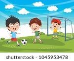 vector illustration of kids... | Shutterstock .eps vector #1045953478