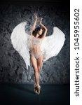 ballet dancer woman in role of... | Shutterstock . vector #1045955602