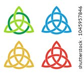 set of celtic triquetra knots....   Shutterstock .eps vector #1045957846