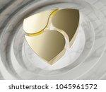golden nem symbol in the center ...   Shutterstock . vector #1045961572
