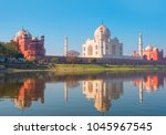 taj mahal at sunset   agra ... | Shutterstock . vector #1045967545