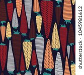 authentic carrot pattern....   Shutterstock .eps vector #1045981612