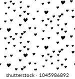seamless  pattern  heart  | Shutterstock .eps vector #1045986892