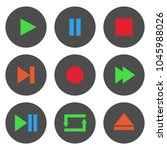 colorful media player control... | Shutterstock .eps vector #1045988026