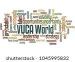 vuca world word cloud concept... | Shutterstock . vector #1045995832