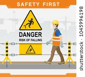 safety at the construction site.... | Shutterstock .eps vector #1045996198