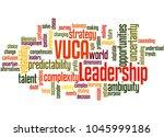 vuca leadership word cloud...   Shutterstock . vector #1045999186