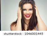 face portrait of smiling... | Shutterstock . vector #1046001445