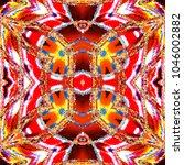colorful kaleidoscopic pattern... | Shutterstock . vector #1046002882