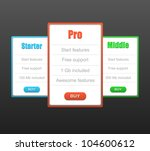 red  blue  green banner set | Shutterstock .eps vector #104600612