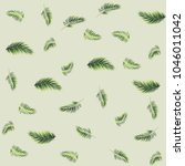 tropical palm leaves seamless... | Shutterstock .eps vector #1046011042