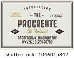 original handmade alphabet.... | Shutterstock .eps vector #1046015842