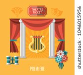 orange theatre composition with ...   Shutterstock .eps vector #1046015956