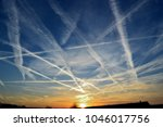 Small photo of air traffic marks in the sky