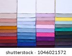 colorful fabric palette | Shutterstock . vector #1046021572