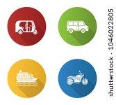 public transport flat design... | Shutterstock .eps vector #1046022805