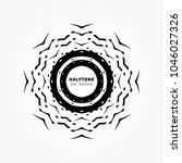black abstract vector circle... | Shutterstock .eps vector #1046027326
